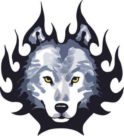 狼愛好家は、このハンサムなオオカミの頭にします。