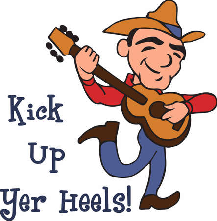 brighten: A happy guitar player will brighten up your day.