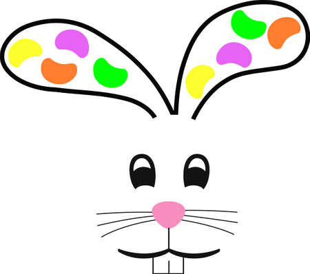 jelly head: A cute rabbit is a classic Easter time design.