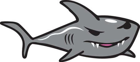 This fun shark will make a great beach design. Иллюстрация