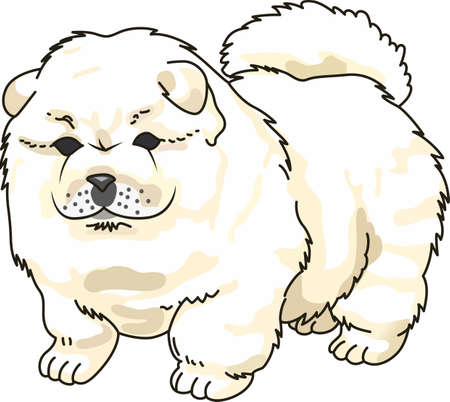 pup: Take your Chow Chow everywhere you go.  A cute design from Great Notions. Illustration