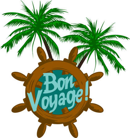 Have happy travels with a bon voyage saying.