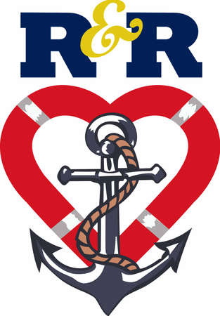 fixture: Show your love for boating with a anchor design.