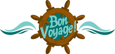 ave happy travels with a bon voyage saying.