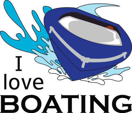 Boating is a fun water activity.