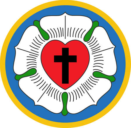 This is a beautiful combination of a cross and flowers symbolizing the Lutheran Rose.  Pick these designs from Great Notions.