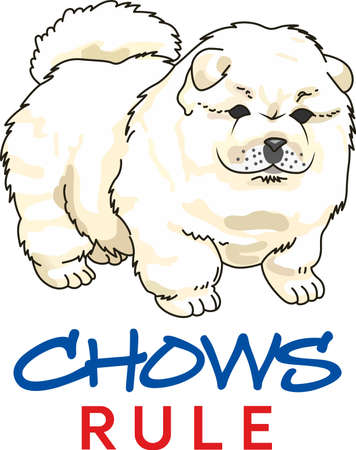 whelps: chow,chows,chow chow,dog puppy,canine,canines,mammal,mammals,animal,animals,pup,pups,whelp,puppy dog Illustration