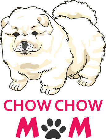 chow: Take your Chow Chow everywhere you go.  A cute design from Great Notions. Illustration