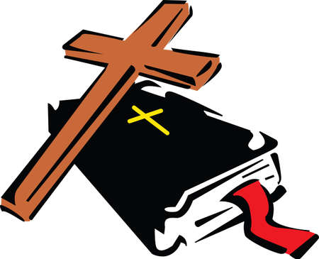 This is a beautiful combination of a cross and Bible.  Pick these designs from Great Notions.