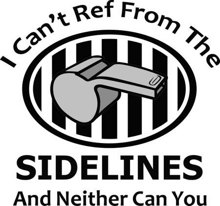 umpire: Use this referee logo design for your next project.