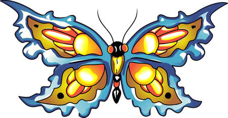 mariposa: This is a beautiful butterfly for your summertime fun.  Pick these designs from Great Notions. Illustration
