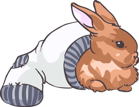 jackrabbit: A cute bunny will make a great design for a child. Illustration