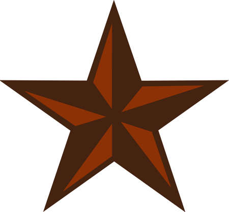 Put this great star on a western project.