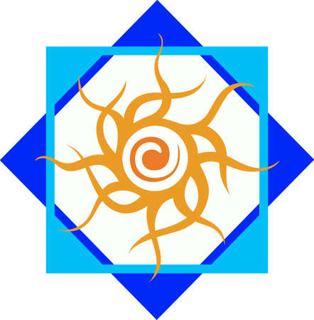 hopi: This beautiful tribal design features the sun Hopi.  A beautiful addition to a hat or shirt.  Get these designs from Great Notions.