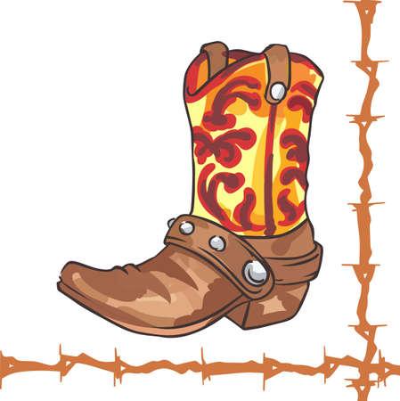All cowboys love a great western boot. Ilustração