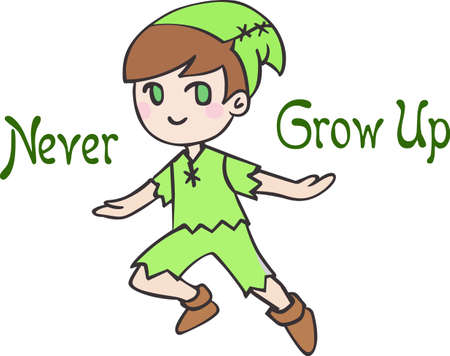 Have peter pan for a child's room decor.