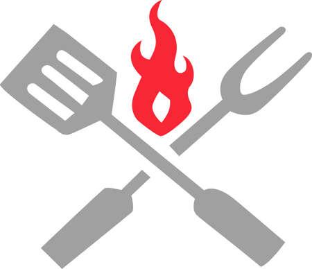 このデザインに自分のスキルを披露して料理を愛する。  イラスト・ベクター素材