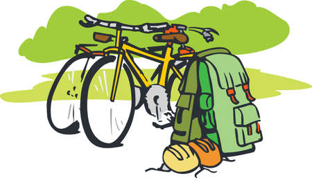 back pack: What happens on the trail stays on the trail.  Take this on your next adventure.  They will love it! Illustration