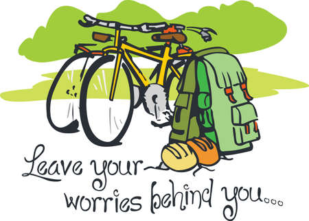 packsack: What happens on the trail stays on the trail.  Take this on your next adventure.  They will love it! Illustration