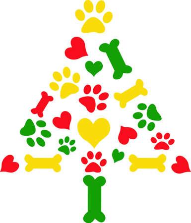 あなたのペットのクリスマス ストッキングを作る。  イラスト・ベクター素材