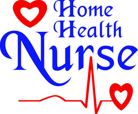 nurse home: This design will be a great logo for an EMT on a hat.