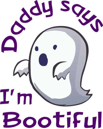 decoraton: Have a fun ghost for a halloween decoraton. Illustration
