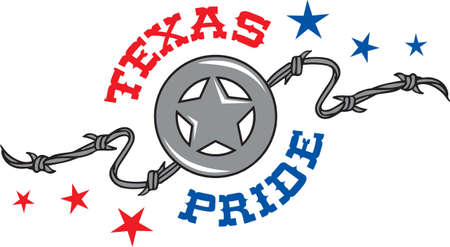 Make a project for a lone star state lover. Stock Illustratie