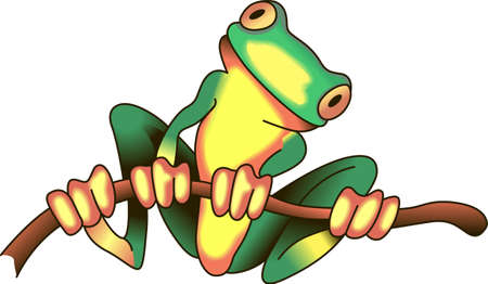 amphibians: This adorable frog just makes you smile.  Brighten someones day with this design from Great Notions. Illustration