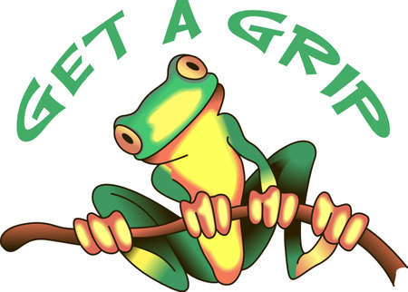 brighten: This adorable frog just makes you smile.  Brighten someones day with this design from Great Notions. Illustration