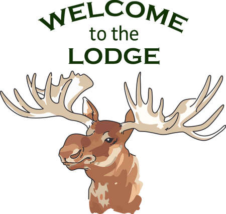 hunters: Nature lovers and hunters will both appreciate the moose head.