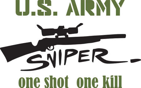 sniper rifle: A sniper rifle will make a good military project. Illustration