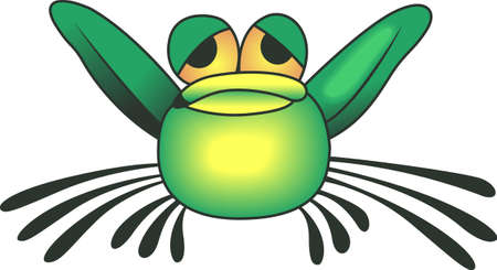 This adorable frog just makes you smile.  Brighten someones day with this design from Great Notions. Çizim