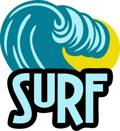 サーファー t シャツにこの大きな波を好きになります。  イラスト・ベクター素材