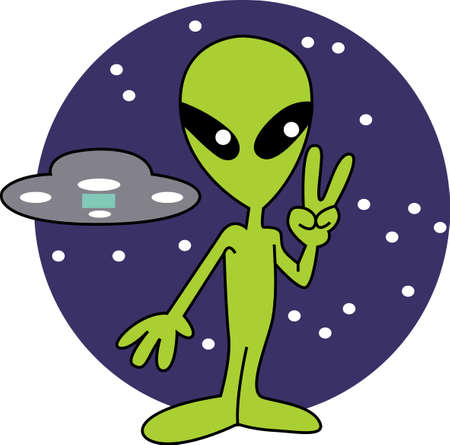 unidentified: Peace sign from the aliens.  Get your cartoon designs from Great Notions.