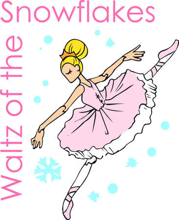 performers: Make a beautiful ballerina for a little girls project. Illustration