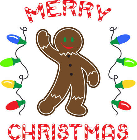 Gingerbread men are a Christmas treat. Ilustrace