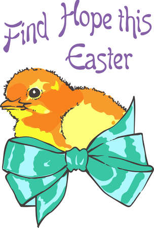 riband: A sweet little chick is a nice Easter design.