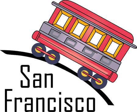 Show your love for the city of San Francisco with a trolley car on a shirt.