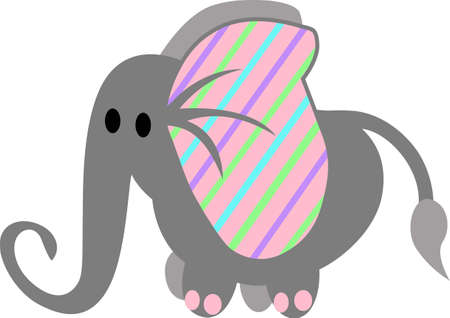 This elephant is a great decoration for a nursery.
