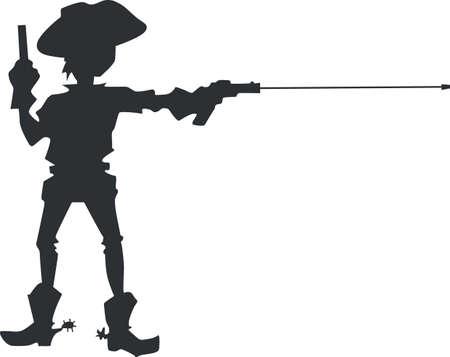 soar: Let a little boys imagination soar with a cowboy. Illustration