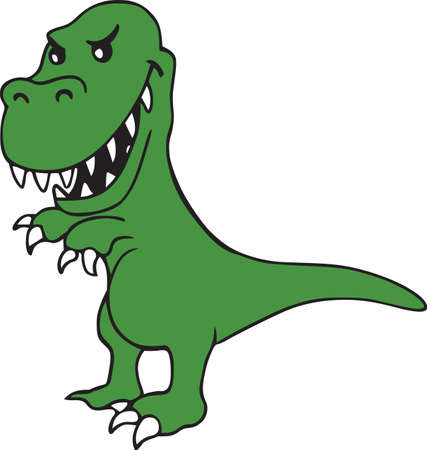 Kids love dinosaurs and will like this one on a project.