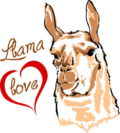 llama: I love my llama.  A cute design from Great Notions.
