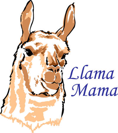 notions: I love my llama.  A cute design from Great Notions.