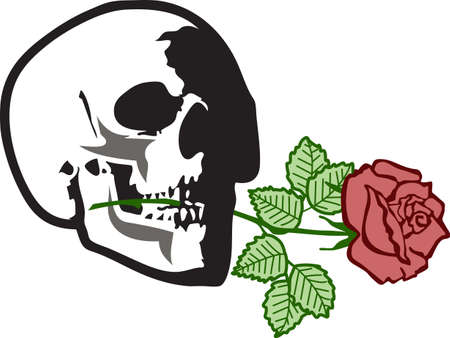 applique flower: This skull will be a wonderful design for a grateful dead fan.