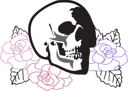 This skull will be a wonderful design for a grateful dead fan.