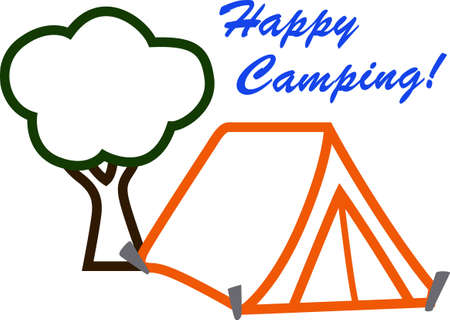 Show off your love of camping with a design on a t-shirt. 向量圖像