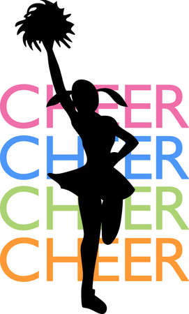 pep: Cheerleaders show their spirit at every game.  A perfect design from Great Notions.