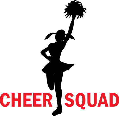 Cheerleaders show their spirit at every game.  A perfect design from Great Notions.