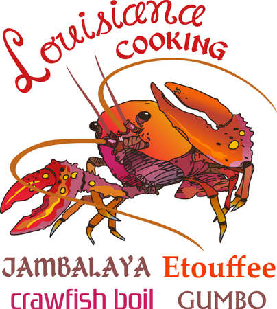 Crawdads are a Cajun favorite.  Put them on a kitchen towel or apron for New Orleans feel.