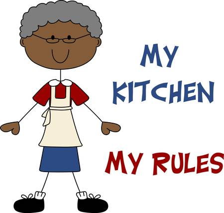 Put a grandmother on a project for a loving cooking design.